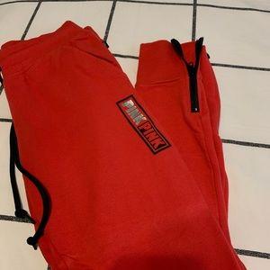 red PINK sweatpants